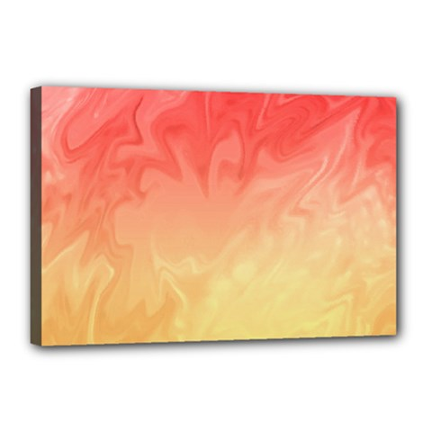 Ombre Orange Yellow Canvas 18  X 12  by BrightVibesDesign