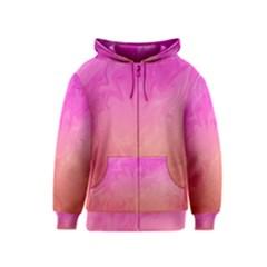 Ombre Pink Orange Kids  Zipper Hoodie by BrightVibesDesign