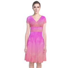 Ombre Pink Orange Wrap Dress by BrightVibesDesign