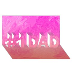 Ombre Pink Orange #1 Dad 3d Greeting Card (8x4)