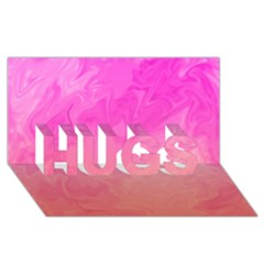Ombre Pink Orange Hugs 3d Greeting Card (8x4)  by BrightVibesDesign
