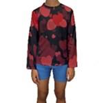 Red Hearts Kid s Long Sleeve Swimwear