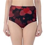 Red Hearts High-Waist Bikini Bottoms
