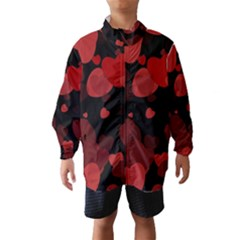 Red Hearts Wind Breaker (kids) by TRENDYcouture
