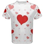 Centered Heart Men s Cotton Tee