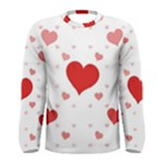 Centered Heart Men s Long Sleeve Tee