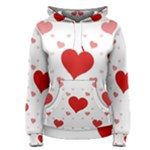 Centered Heart Women s Pullover Hoodie