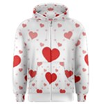 Centered Heart Men s Zipper Hoodie