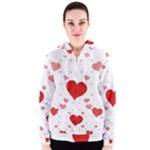 Centered Heart Women s Zipper Hoodie