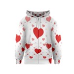 Centered Heart Kids  Zipper Hoodie