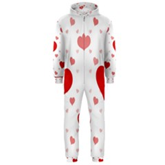 Centered Heart Hooded Jumpsuit (men)  by TRENDYcouture