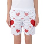 Centered Heart Women s Basketball Shorts