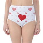 Centered Heart High-Waist Bikini Bottoms
