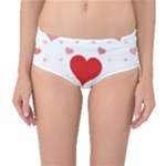Centered Heart Mid-Waist Bikini Bottoms