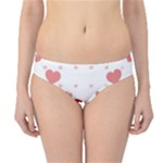 Centered Heart Hipster Bikini Bottoms