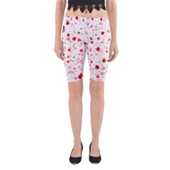 Bubble Hearts Yoga Cropped Leggings by TRENDYcouture