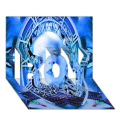 Clockwork Blue Boy 3d Greeting Card (7x5) by icarusismartdesigns