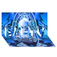 Clockwork Blue Party 3d Greeting Card (8x4)  by icarusismartdesigns