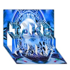 Clockwork Blue Take Care 3d Greeting Card (7x5)  by icarusismartdesigns