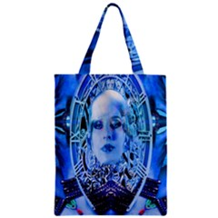 Clockwork Blue Zipper Classic Tote Bag by icarusismartdesigns