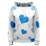 Blue Hearts Women s Pullover Hoodie
