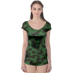 Green Camo Hearts Boyleg Leotard (ladies) by TRENDYcouture