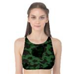 Green Camo Hearts Tank Bikini Top
