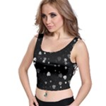 Black and White Hearts Crop Top
