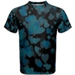 Turquoise Hearts Men s Cotton Tee