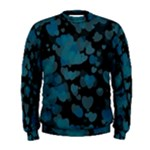 Turquoise Hearts Men s Sweatshirt