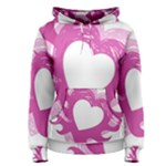 Hot Pink Love Women s Pullover Hoodie