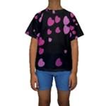 Pink Hearts Kid s Short Sleeve Swimwear