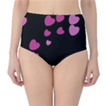 Pink Hearts High-Waist Bikini Bottoms