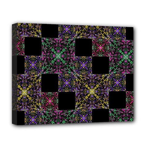 Ornate Boho Patchwork Deluxe Canvas 20  X 16   by dflcprints