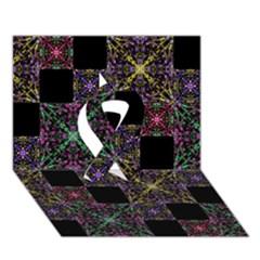 Ornate Boho Patchwork Ribbon 3d Greeting Card (7x5)  by dflcprints