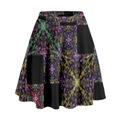 Ornate Boho Patchwork High Waist Skirt by dflcprintsclothing