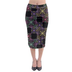 Ornate Boho Patchwork Midi Pencil Skirt by dflcprintsclothing