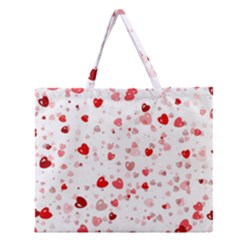 Bubble Hearts Zipper Large Tote Bag by TRENDYcouture