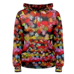 Colorful Brush Strokes                                             Women s Pullover Hoodie by LalyLauraFLM