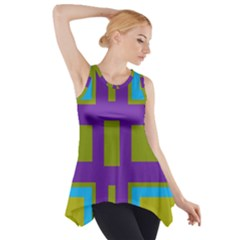 Angles And Shapes                                                 Side Drop Tank Tunic by LalyLauraFLM