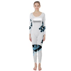 Butterflies Long Sleeve Catsuit by TRENDYcouture