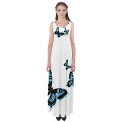 Butterflies Empire Waist Maxi Dress by TRENDYcouture