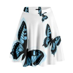 Butterflies High Waist Skirt by TRENDYcouture