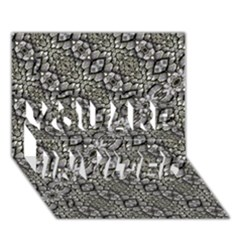 Silver Oriental Ornate  You Are Invited 3d Greeting Card (7x5)  by dflcprints