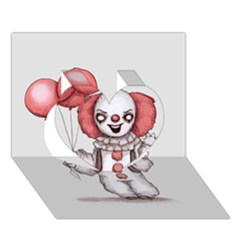 They All Float Heart 3d Greeting Card (7x5)
