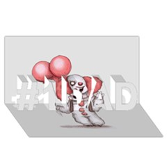 They All Float #1 Dad 3d Greeting Card (8x4)