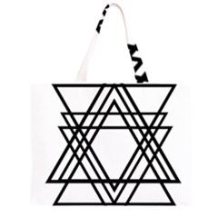 Triangles Zipper Large Tote Bag by TRENDYcouture