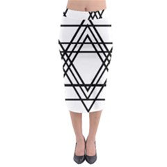 Triangles Midi Pencil Skirt