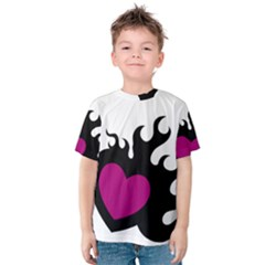 Heartflame Kid s Cotton Tee by TRENDYcouture