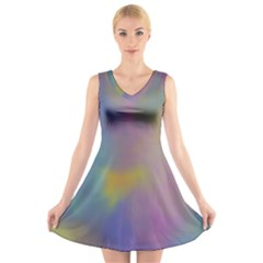 Mystic Sky V-Neck Sleeveless Skater Dress by TRENDYcouture